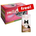 24 x 85g Smilla Adult Sterilised Mixed Pack + 8 x 15g Creamy Snack Free!*