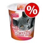 5 x 125g Smilla Hearties or Toothies Cat Snacks - Special Price!*