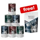 "6 x 400g ""The Taste of"" Wolf of Wilderness Mixed Pack + Wild Bites Free!*"