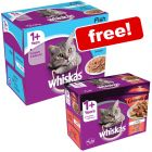 48 x 100g Whiskas 1+ Pouches + 12 x 85g Casserole Meaty Selection in Jelly Free!*