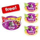 8 x 72g Whiskas Temptations + 2 x 66g Whiskas Trio Crunchy Treats Free!*