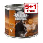 6 x 200g Wild Freedom Adult Wet Cat Food - 5 + 1 Free!*