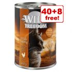48 x 400g Wild Freedom Adult Wet Cat Food - 40 + 8 Free!*