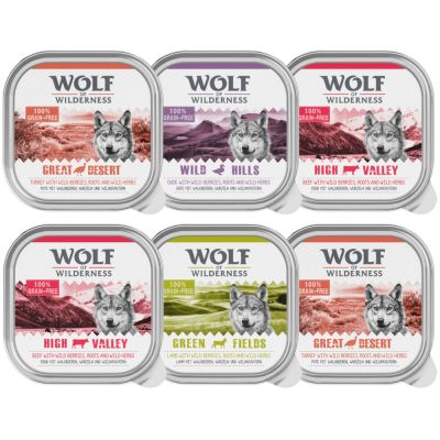6 x 300g Wolf of Wilderness Adult Mixed Pack - Special Price!*