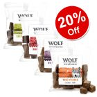 4 x 180g Wolf of Wilderness Dog Snacks Mixed Pack - 20% Off!*