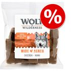 3 x 180g Wolf of Wilderness Natural Dog Snacks - Saver Pack!*