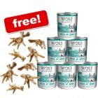 24 x 800g Wolf of Wilderness Wet Dog Food + Chicken Feet Dog Snacks Free!*