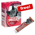 24 x 370g/380g Smilla Chunks Wet Cat Food - 50g Smilla Malt Paste Free!*