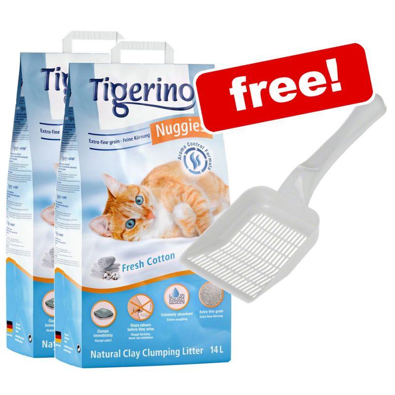 2 x 14l Tigerino Nuggies Cat Litter + Ultra Litter Scoop Free!*