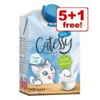 6 x 200ml Catessy Cat Milk - 5 + 1 Free!*