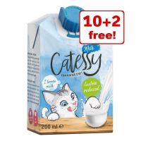 12 x 200ml Catessy Cat Milk - 10 + 2 Free!*
