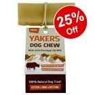 Yakers Dog Chews - 25% Off!*