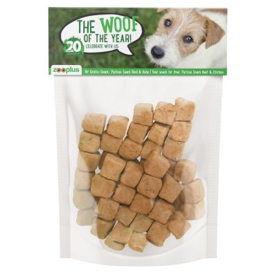 Your FREE gift: 30g Purizon Beef & Chicken Dog Snacks!*