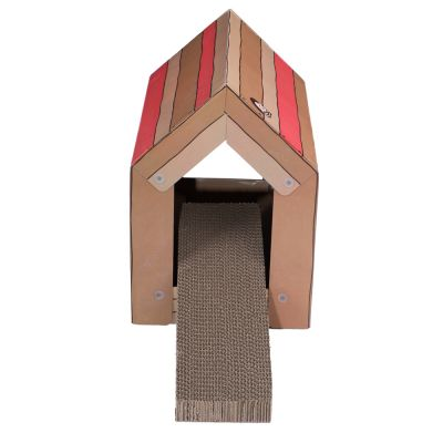 zoolove Cat Home with Scratch Pad