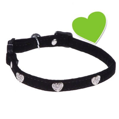 zoolove Diamond Hearts Cat Collar